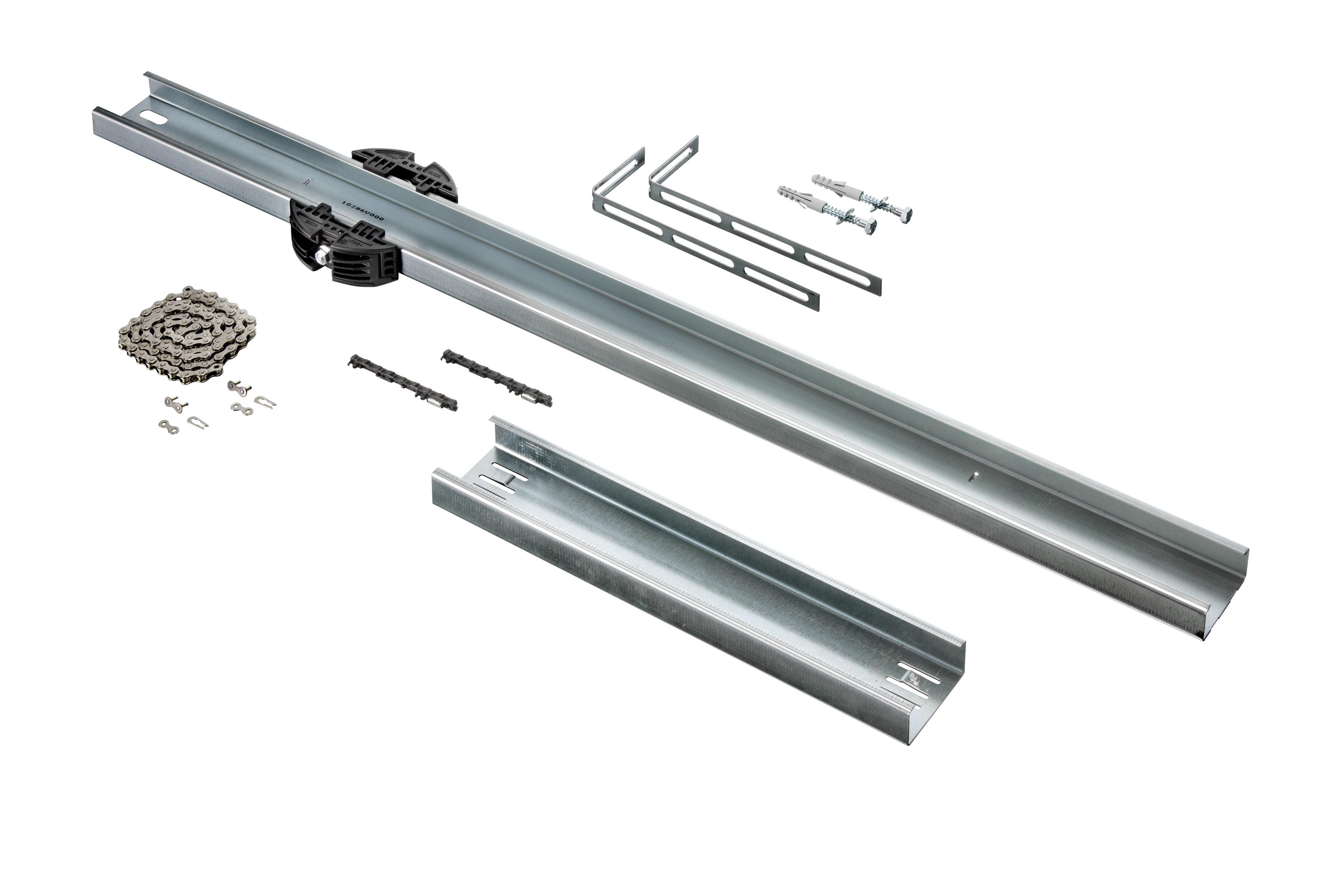 Schienenverlängerung (1096 mm) für Garagentorantrieb A 550 L, A 800 XL