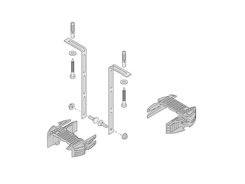 Sommer-Aperto-Torantrieb-Ersatzteil-Laufschiene-Deckenaufhaengung-Set