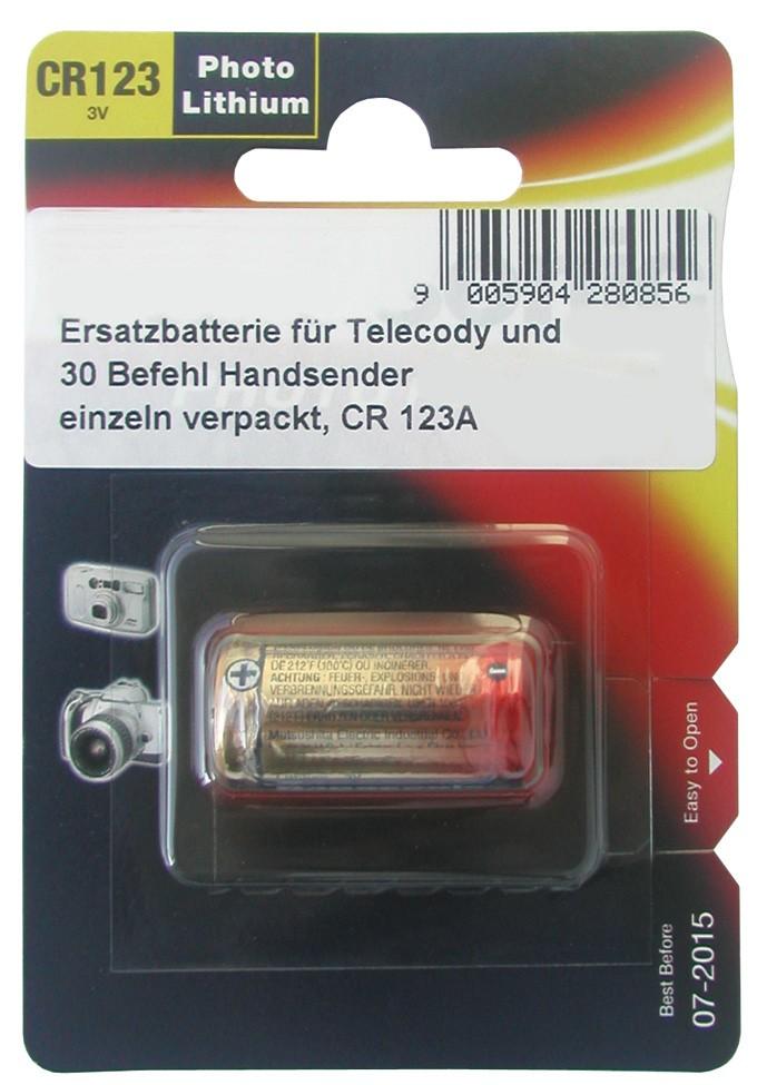 Einzel-Batterie CR 123 A