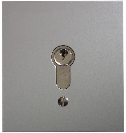 Schlüsseltaster im Metallgehäuse, 2-Kontakt mit Zylinder (Unterputz), 3 Schlüssel
