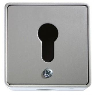 Schlüsseltaster im Metallgehäuse, 1-Kontakt ohne Zylinder (Aufputz)