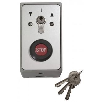 Schlüsseltaster im Metallgehäuse, Aufputz