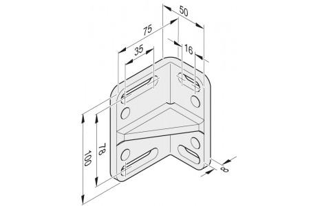 Konsole für Pfostenbeschlag L + R aus Edelstahl