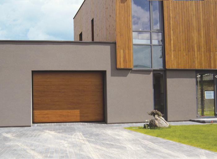 Garage neben Haus